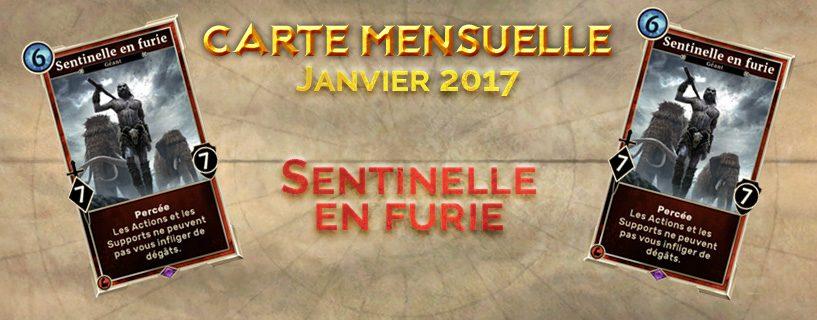 Récompense de janvier 2017 : Sentinelle en furie