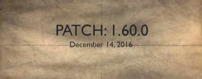 Patch 1.60.0 du 14 décembre 2016